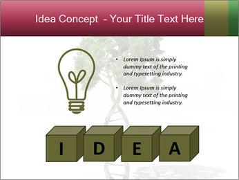 DNA shaped tree with trunks PowerPoint Templates - Slide 80