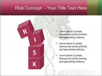 DNA shaped tree with trunks PowerPoint Template - Slide 81