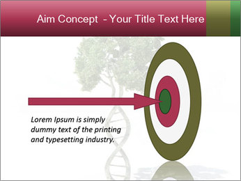 DNA shaped tree with trunks PowerPoint Template - Slide 83