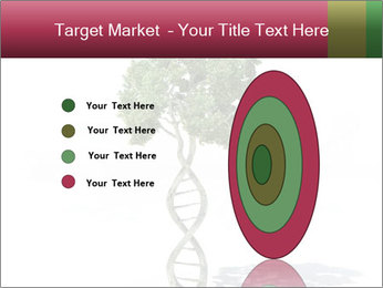 DNA shaped tree with trunks PowerPoint Template - Slide 84