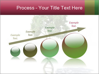 DNA shaped tree with trunks PowerPoint Template - Slide 87