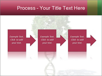 DNA shaped tree with trunks PowerPoint Template - Slide 88