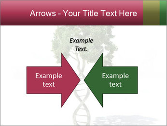 DNA shaped tree with trunks PowerPoint Template - Slide 90
