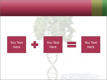 DNA shaped tree with trunks PowerPoint Template - Slide 95