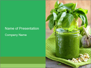 Italian pesto sauce PowerPoint Templates - Slide 1