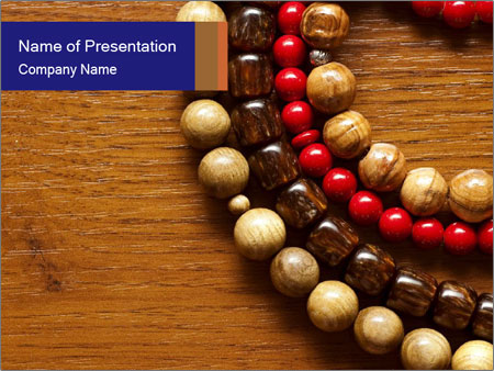 Necklace and beads PowerPoint Template