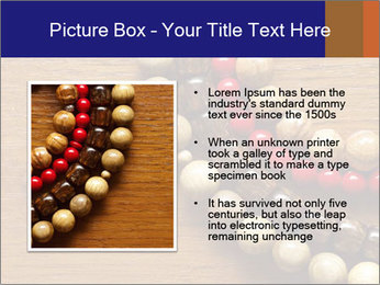Necklace and beads PowerPoint Template - Slide 13