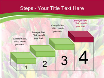Bouquet of multicolor tulips PowerPoint Template - Slide 64