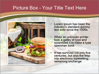 Closeup of burger made from beaf PowerPoint Template - Slide 13