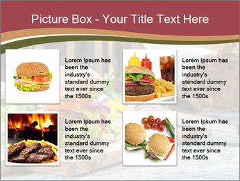Closeup of burger made from beaf PowerPoint Template - Slide 14