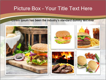 Closeup of burger made from beaf PowerPoint Template - Slide 19