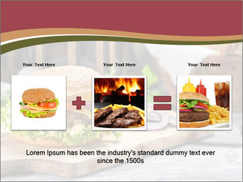 Closeup of burger made from beaf PowerPoint Template - Slide 22