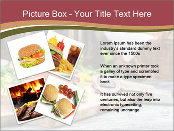 Closeup of burger made from beaf PowerPoint Template - Slide 23