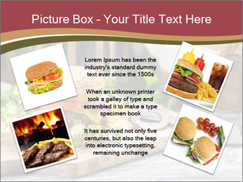 Closeup of burger made from beaf PowerPoint Template - Slide 24