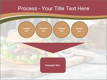 Closeup of burger made from beaf PowerPoint Template - Slide 93