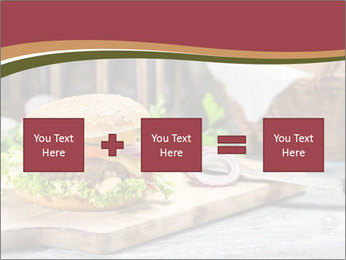 Closeup of burger made from beaf PowerPoint Template - Slide 95