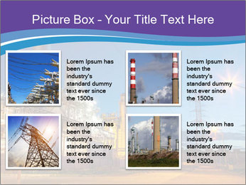 Twilight photo of power plant PowerPoint Templates - Slide 14