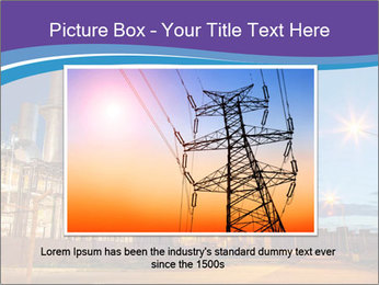 Twilight photo of power plant PowerPoint Templates - Slide 16