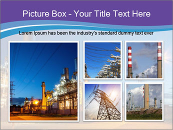 Twilight photo of power plant PowerPoint Templates - Slide 19