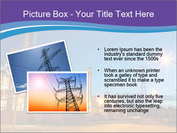 Twilight photo of power plant PowerPoint Templates - Slide 20