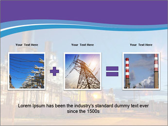 Twilight photo of power plant PowerPoint Templates - Slide 22