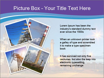 Twilight photo of power plant PowerPoint Templates - Slide 23