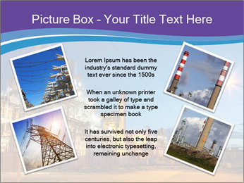 Twilight photo of power plant PowerPoint Templates - Slide 24