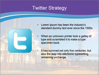 Twilight photo of power plant PowerPoint Templates - Slide 9