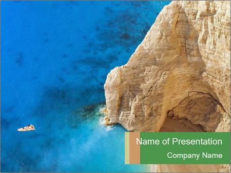 Superb beach Navagio in Zakynthos PowerPoint Templates