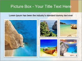 Superb beach Navagio in Zakynthos PowerPoint Templates - Slide 19