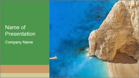 Superb beach Navagio in Zakynthos PowerPoint Template
