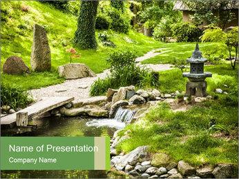 Japanese Garden PowerPoint Template - Slide 1