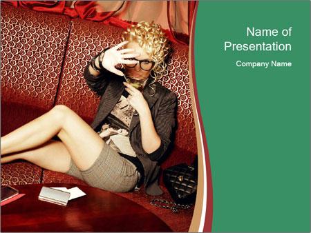 Portrait of a gorgeous superstar PowerPoint Templates