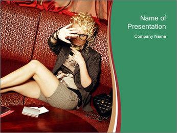 Portrait of a gorgeous superstar PowerPoint Templates - Slide 1