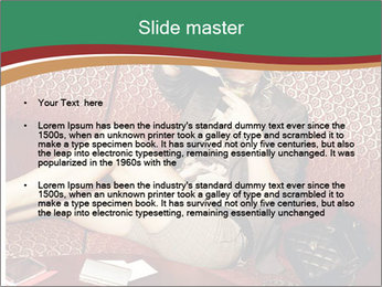 Portrait of a gorgeous superstar PowerPoint Templates - Slide 2