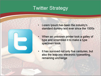 Portrait of a gorgeous superstar PowerPoint Templates - Slide 9
