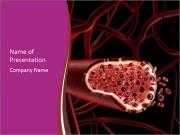 Red blood cells PowerPoint Templates