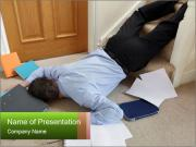Business man falling down PowerPoint Templates