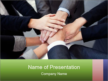 Group of business people PowerPoint Template - Slide 1