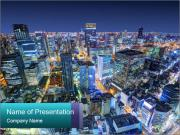 Japan cityscape PowerPoint Templates