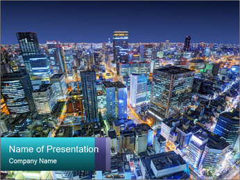 Japan cityscape PowerPoint Templates - Slide 1