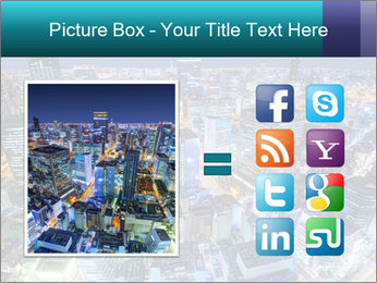 Japan cityscape PowerPoint Templates - Slide 21