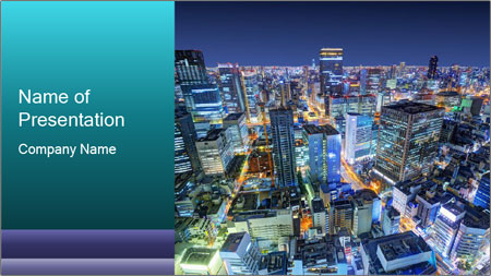Japan cityscape PowerPoint Template