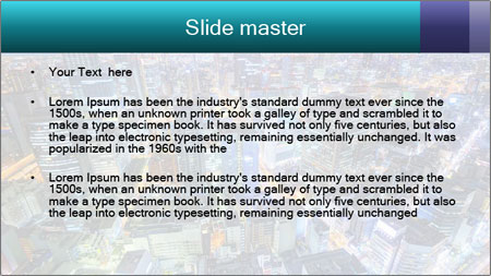 Japan cityscape PowerPoint Template - Slide 2
