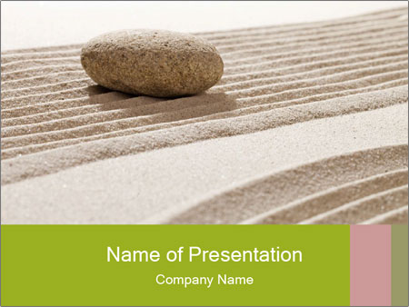 Zen contemplation PowerPoint Templates