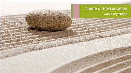 Zen contemplation PowerPoint Template