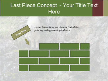 Mountain Goat on Cliff PowerPoint Template - Slide 46