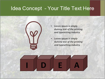 Mountain Goat on Cliff PowerPoint Template - Slide 80