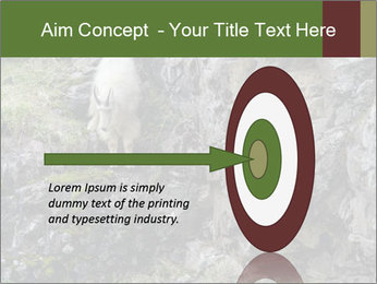 Mountain Goat on Cliff PowerPoint Template - Slide 83