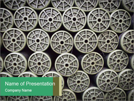 Old and empty reel PowerPoint Template